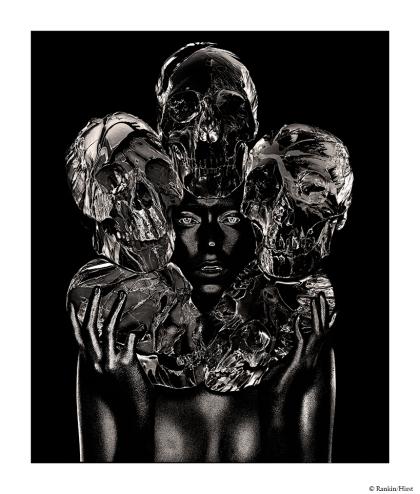 The Painted Skulls II,Rankin/Damien Hirst,Platinum Palladium Print,2011, DC Editions