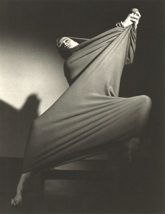 Martha Graham, Lamentation (Oblique), Barbara Morgan 1935, Platinum Palladium Print, 9 1/2 x 7 1/2 inches