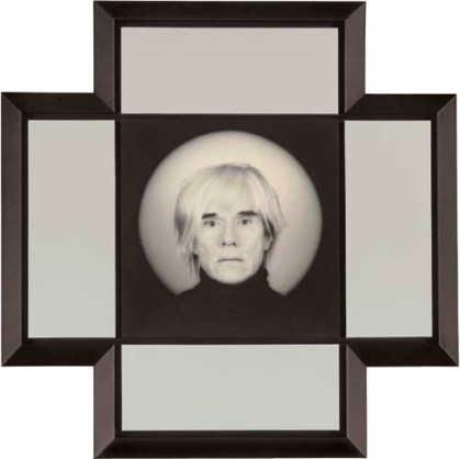 ROBERT MAPPLETHORPE (1946-1989) Andy Warhol, 1987 unique platinum print on linen with 4 silk panels overall 42 x 42in. (106.7 x 106.7cm.)